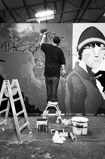 Sozy One Gonzales, Street Art, carhartt