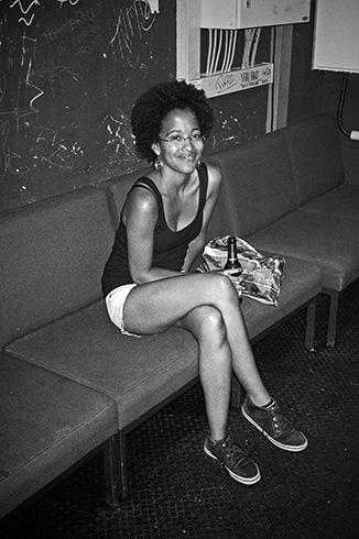 Lea, Lea Constrictor, Club Bahnhof Ehrenfeld, black and white, analog