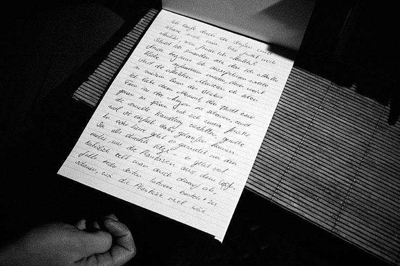 Brief, Letter, Liebesbrief, Loveletter, analog, s/w, schwarz-weiss, b/w, black and white, Contax T3