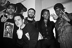 Andy Musgrave, 3D Na Tee, Rico Dan, Future Brown, Kantine Berghain, analog, s/w, schwarz-weiss, b/w, black and white, Contax T3