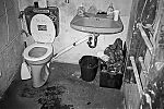 toilet, restroom, Brause, Metzgerei Schnitzel e.V., Contax T3, TMax400, analog, s/w, b/w
