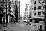 Adersstrasse, Bilk, crossing, street, city, Düsseldorf, Corona, Covid 19, analogfotografie, Leica minilux, Kodak Tmax 400, point and shoot, analogphotography