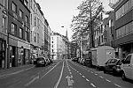 Friedrichstrasse, Bilk, crossing, street, city, Düsseldorf, Corona, Covid 19, analogfotografie, Leica minilux, Kodak Tmax 400, point and shoot, analogphotography