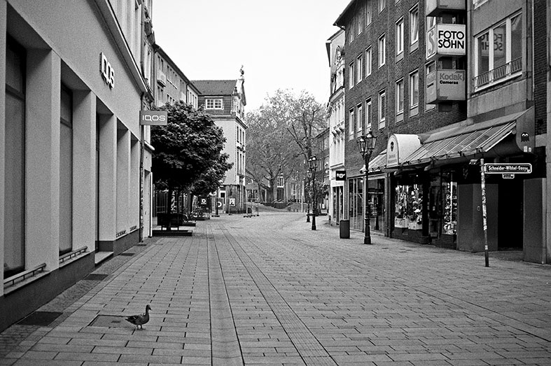 street, strasse, analog, analogphotografie, analogphotography, black and white, monochrom, point and shoot, covid 19, photoblog, photostory, analog photo blog, Düsseldorf