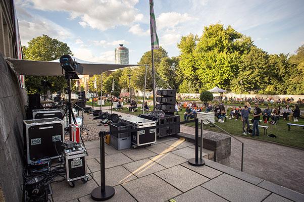 New Fall Festival, Festival, Düsseldorf, NRW Forum, Ehrenhof, Summer Edition, Stage