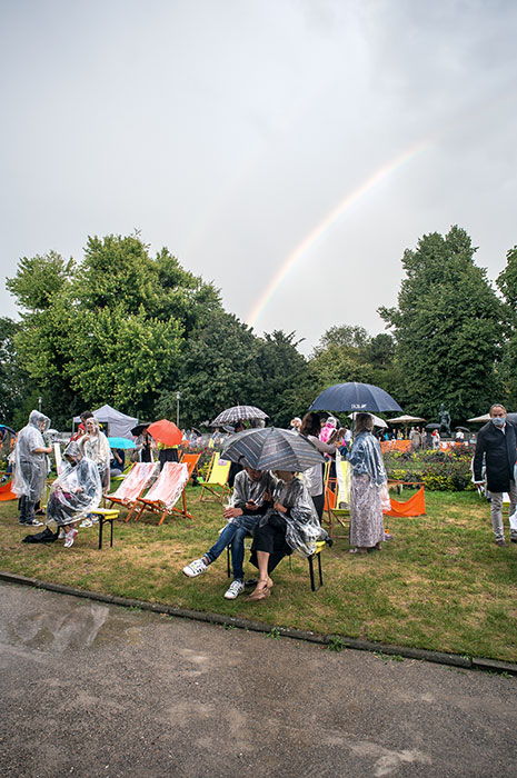 New Fall Festival, Festival, Düsseldorf, NRW Forum, Ehrenhof, Summer Edition, Regenbogen, Regen, Park,