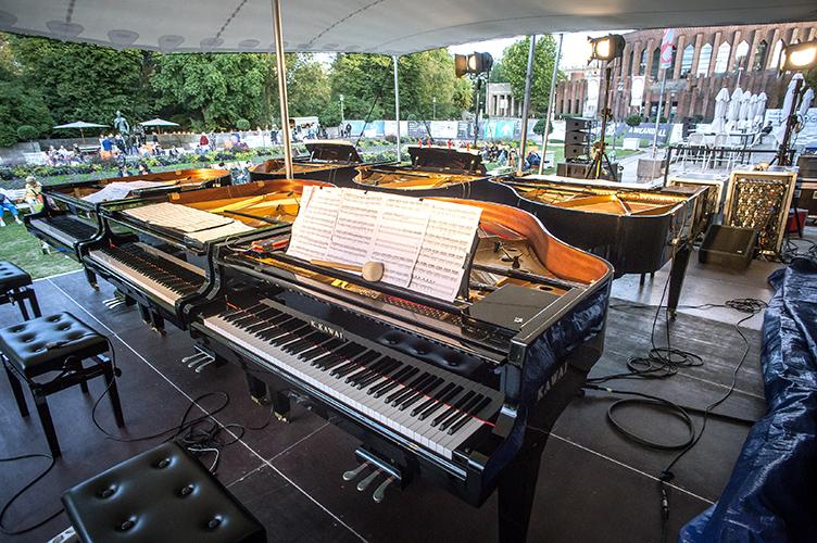 New Fall Festival, Festival, Düsseldorf, NRW Forum, Ehrenhof, Summer Edition, Six Pianos